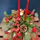 yule tide christmas table arrangement