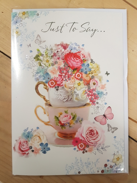 just to say greeting card